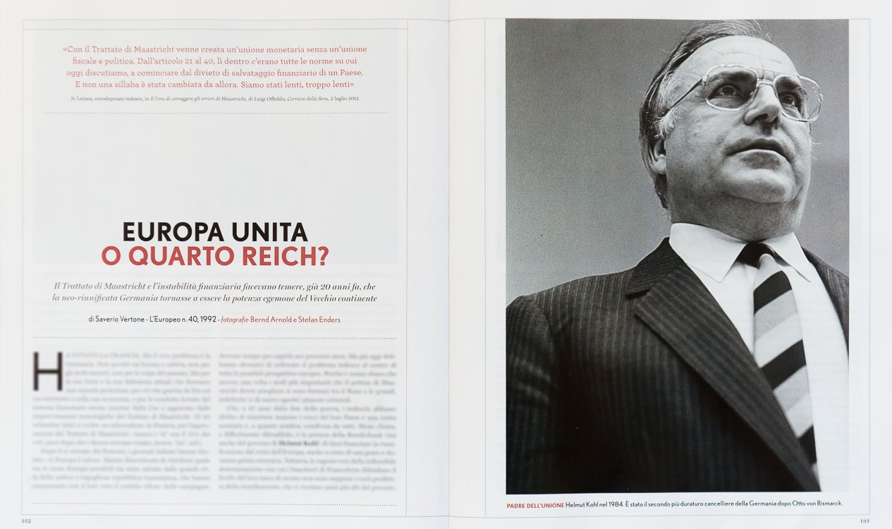 Helmut Kohl (1984) in L'Europeo