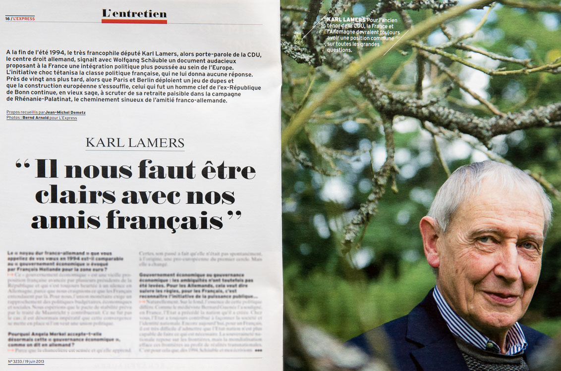 Karl Lamers in L´Express